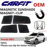 CARFIT OEM Magnetic Custom Fit Sunshade For Honda BRV Yr 2016 (6pcs Sets)