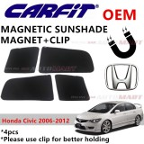CARFIT OEM Magnetic Custom Fit Sunshade For Honda Civic Yr 2006-2012 (4pcs Sets)