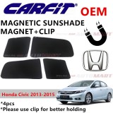 CARFIT OEM Magnetic Custom Fit Sunshade For Honda Civic Yr 2013-2015 (4pcs Sets)