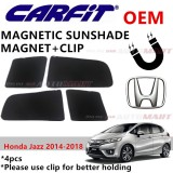 CARFIT OEM Magnetic Custom Fit Sunshade For Honda Jazz Yr 2014-2018 (4pcs Sets)