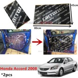 2PCS Carrozzeria High Quality Sound Damping Car Bonnet Door Sound Proof Proofing Deadening Insulation For Honda Accord 2008