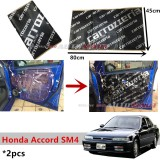 2PCS Carrozzeria High Quality Sound Damping Car Bonnet Door Sound Proof Proofing Deadening Insulation For Honda Accord SM4