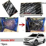2PCS Carrozzeria High Quality Sound Damping Car Bonnet Door Sound Proof Proofing Deadening Insulation For Honda BRV