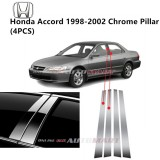 Honda Accord Yr 1998-2002- Car Chrome Door Window Pillar Trim Panel Chrome Stainless Steel (1 Set)