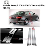 Honda Accord Yr 2007-2012- Car Chrome Door Window Pillar Trim Panel Chrome Stainless Steel (1 Set)