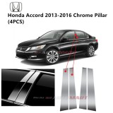 Honda Accord Yr 2013- Car Chrome Door Window Pillar Trim Panel Chrome Stainless Steel (1 Set)