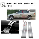 Honda Civic Yr 1996- Car Chrome Door Window Pillar Trim Panel Chrome Stainless Steel (1 Set)