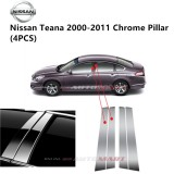 Nissan Teana Yr 2000-2014- Car Chrome Door Window Pillar Trim Panel Chrome Stainless Steel (1 Set)