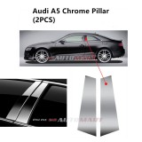 Audi A5- Car Chrome Door Window Pillar Trim Panel Chrome Stainless Steel (1 Set)