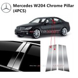 Mercedes W204-C Class- Car Chrome Door Window Pillar Trim Panel Chrome Stainless Steel (1 Set)