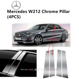 Mercedes W212 E Class- Car Chrome Door Window Pillar Trim Panel Chrome Stainless Steel (1 Set)