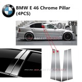 BMW E-46- Car Chrome Door Window Pillar Trim Panel Chrome Stainless Steel (1 Set)