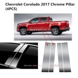 Chevrolet Corolado Yr 2017- Car Chrome Door Window Pillar Trim Panel Chrome Stainless Steel (1 Set)