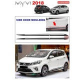 Perodua Myvi 2017-Present Side Doors Cladding Moulding Trim Guard Body Moulding (Made in Malaysia)