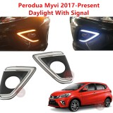 PERODUA MYVI 2017 - 2018 Daylight DRL With Signal Fog Lamp Cover