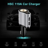 HSC 119A Car Wireless MP3 Charger Dual Usb Ports Cigarette Lighter Socket