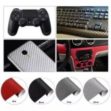Auto Fan Carbon Fiber Sheet Wrap Film Car Exterior DIY Paper Decal Sticker 200x30CM