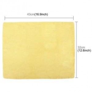 Car Nature Real Leather Washing Cloth Cleaning Towel Wipes Chamois Clean Cham (43X32X0.2CM) - YELLOW