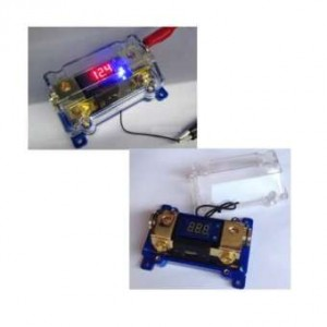 CAR STEREO AUDIO LED DISPLAY DIGITAL VOLTAGE BLUE ANL FUSE HOLDER WITH 1 TO 1 100A