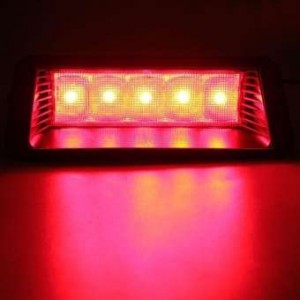 Universal Car Red 5 LED 12V Warning High Mount Third 3rd Brake Stop Tail Light (GT-81032A)