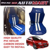Sparzo Kevlar Carbon 3D Seat Cushion Seat Mat 1 Pc MADE IN THAILAND (BLUE+WHITE LINE) For PROTON GEN2