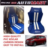 Sparzo Kevlar Carbon 3D Seat Cushion Seat Mat 1 Pc MADE IN THAILAND (BLUE+WHITE LINE) For PROTON ERTIGA YR2016