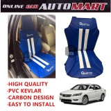 Sparzo Kevlar Carbon 3D Seat Cushion Seat Mat 1 Pc MADE IN THAILAND (BLUE+WHITE LINE) For HONDA ACCORD SM4/SV4 YR1998-2000/YR2008-2012/YR2013-2015