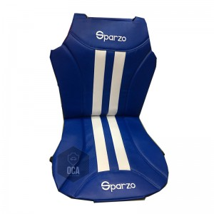 Sparzo Kevlar Carbon 3D Seat Cushion Seat Mat 1 Pc MADE IN THAILAND (BLUE+WHITE LINE) For NISSAN SENTRA