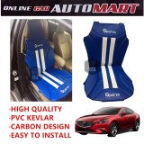 Sparzo Kevlar Carbon 3D Seat Cushion Seat Mat 1 Pc MADE IN THAILAND (BLUE+WHITE LINE) For MAZDA 6