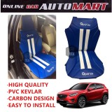 Sparzo Kevlar Carbon 3D Seat Cushion Seat Mat 1 Pc MADE IN THAILAND (BLUE+WHITE LINE) For MAZDA CX-5