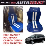 Sparzo Kevlar Carbon 3D Seat Cushion Seat Mat 1 Pc MADE IN THAILAND (BLUE+WHITE LINE) For MAZDA BIANTE