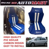 Sparzo Kevlar Carbon 3D Seat Cushion Seat Mat 1 Pc MADE IN THAILAND (BLUE+WHITE LINE) For CHEVROLET NABIRA