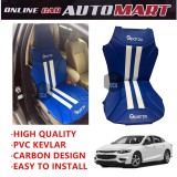Sparzo Kevlar Carbon 3D Seat Cushion Seat Mat 1 Pc MADE IN THAILAND (BLUE+WHITE LINE) For CHEVROLET MALIBU