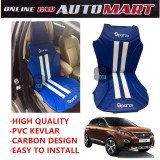 Sparzo Kevlar Carbon 3D Seat Cushion Seat Mat 1 Pc MADE IN THAILAND (BLUE+WHITE LINE) For PEUGEOT 3008
