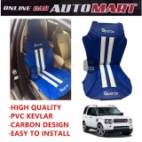 Sparzo Kevlar Carbon 3D Seat Cushion Seat Mat 1 Pc MADE IN THAILAND (BLUE+WHITE LINE) For LAND ROVER DISCOVERY