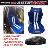Sparzo Kevlar Carbon 3D Seat Cushion Seat Mat 1 Pc MADE IN THAILAND (BLUE+WHITE LINE) For BMW I8