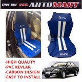 Sparzo Kevlar Carbon 3D Seat Cushion Seat Mat 1 Pc MADE IN THAILAND (BLUE+WHITE LINE) For CHERY EASTAR