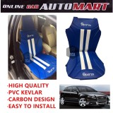 Sparzo Kevlar Carbon 3D Seat Cushion Seat Mat 1 Pc MADE IN THAILAND (BLUE+WHITE LINE) For AUDI A3