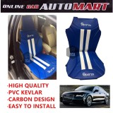 Sparzo Kevlar Carbon 3D Seat Cushion Seat Mat 1 Pc MADE IN THAILAND (BLUE+WHITE LINE) For AUDI A7