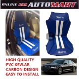 Sparzo Kevlar Carbon 3D Seat Cushion Seat Mat 1 Pc MADE IN THAILAND (BLUE+WHITE LINE) For AUDI A8