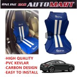 Sparzo Kevlar Carbon 3D Seat Cushion Seat Mat 1 Pc MADE IN THAILAND (BLUE+WHITE LINE) For AUDI TT