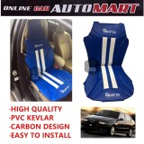 Sparzo Kevlar Carbon 3D Seat Cushion Seat Mat 1 Pc MADE IN THAILAND (BLUE+WHITE LINE) For ALFA ROMEO 145/146