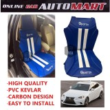 Sparzo Kevlar Carbon 3D Seat Cushion Seat Mat 1 Pc MADE IN THAILAND (BLUE+WHITE LINE) For LEXUS IS200/IS300/IS250/IS350