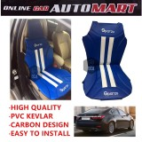 Sparzo Kevlar Carbon 3D Seat Cushion Seat Mat 1 Pc MADE IN THAILAND (BLUE+WHITE LINE) For LEXUS ES250/ES300