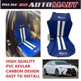 Sparzo Kevlar Carbon 3D Seat Cushion Seat Mat 1 Pc MADE IN THAILAND (BLUE+WHITE LINE) For LEXUS GS200T/GS350