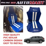 Sparzo Kevlar Carbon 3D Seat Cushion Seat Mat 1 Pc MADE IN THAILAND (BLUE+WHITE LINE) For LEXUS RX350/RX200T