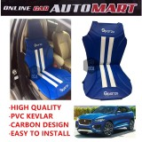 Sparzo Kevlar Carbon 3D Seat Cushion Seat Mat 1 Pc MADE IN THAILAND (BLUE+WHITE LINE) For JAGUAR F PACE