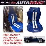Sparzo Kevlar Carbon 3D Seat Cushion Seat Mat 1 Pc MADE IN THAILAND (BLUE+WHITE LINE) For LOTUS EXIGE ROADSTER/EXIGE S COUPE