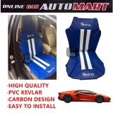 Sparzo Kevlar Carbon 3D Seat Cushion Seat Mat 1 Pc MADE IN THAILAND (BLUE+WHITE LINE) For LAMBORGHINI AVENTADOR