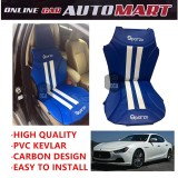 Sparzo Kevlar Carbon 3D Seat Cushion Seat Mat 1 Pc MADE IN THAILAND (BLUE+WHITE LINE) For MASERATI GHIBLI